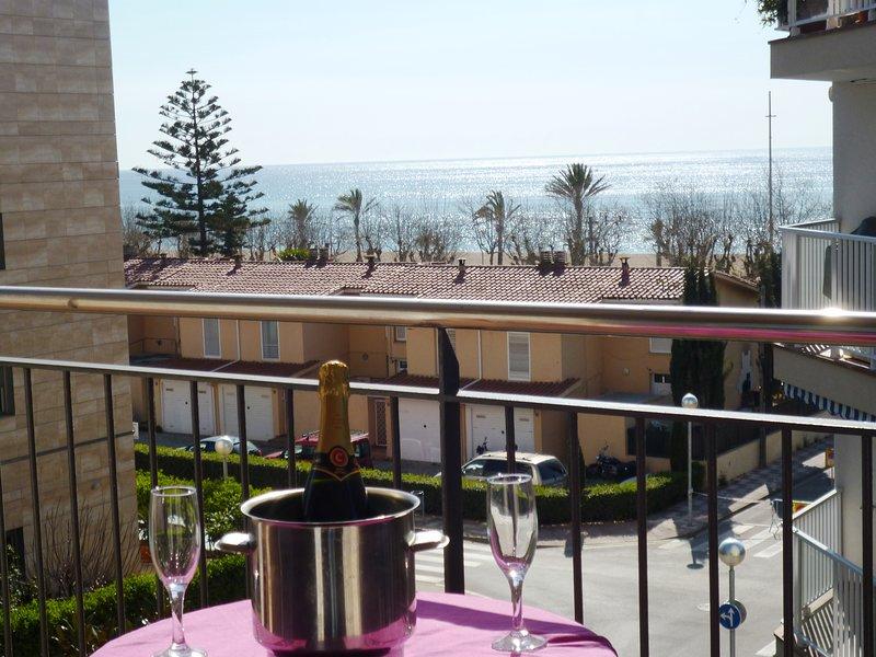 Piso con piscinas (una para niños) a 50 metros del mar, Calella, Barcelona, vacation rental in Calella