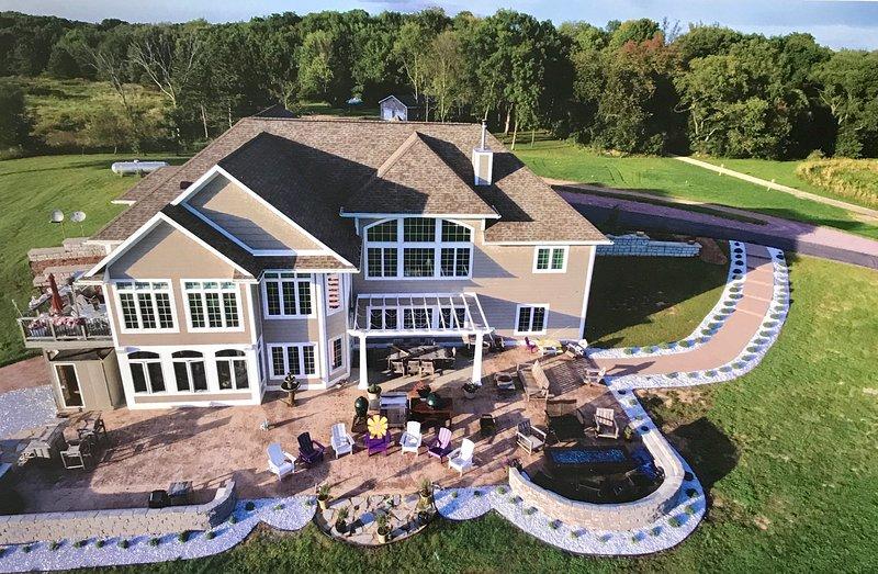6200 SF of luxury. 5 bedrooms, 3 ensuite bathrooms, hottub, sauna,huge outdoor living space,lavender