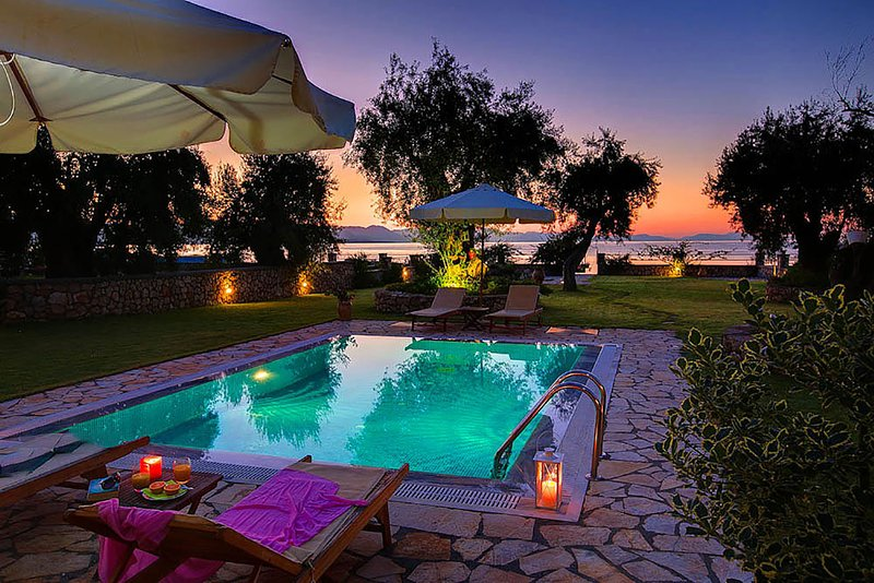 Absolutely Beachfront Villa.Life is better at the beach!, holiday rental in Barbati