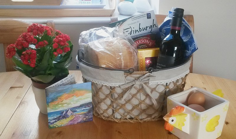 You'll enjoy a warm Scottish welcome complete with Welcome Pack.