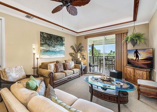 Waikoloa Beach Villas E32 - Gorgeous 2 BR with Ocean Views!!, holiday rental in Kohala Coast