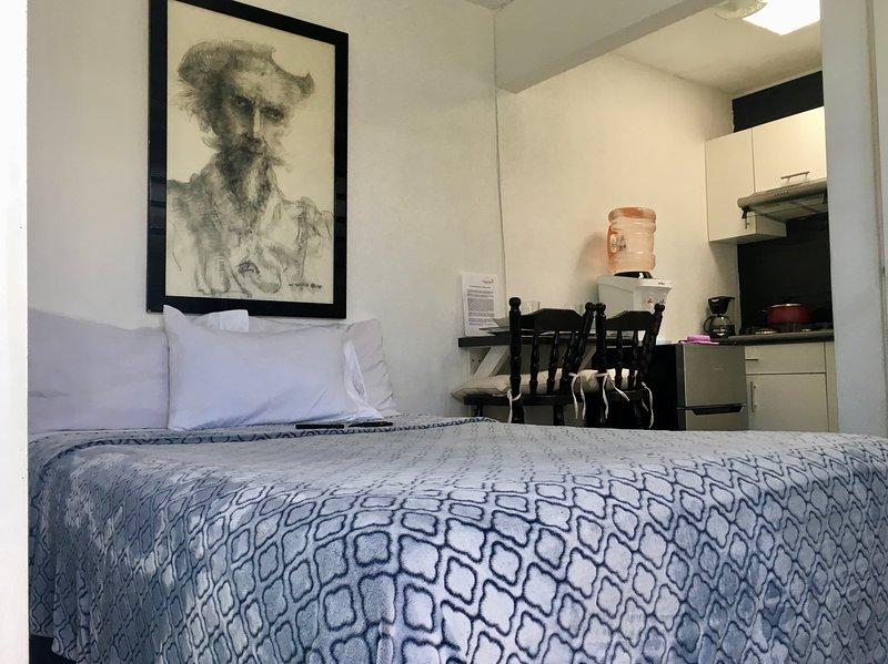 Céntrica recámara-suite con cocineta y baño. Suite 6., vakantiewoning in Guadalajara