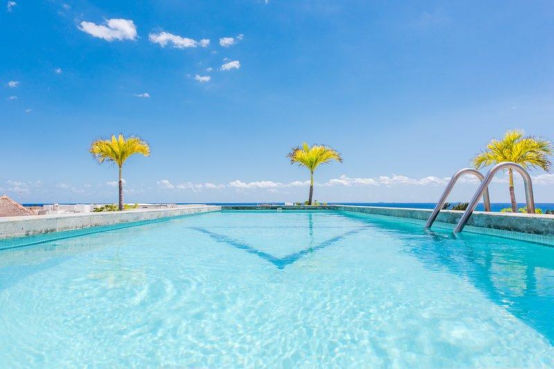 Luxury Rooftop Level Pool with Breathtaking Ocean Views