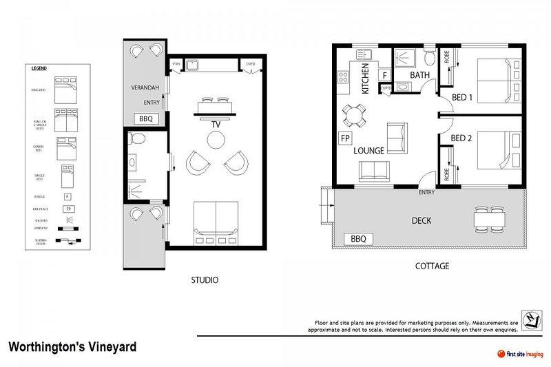 Hunter Valley Accommodation - Worthington's Guest Cottage Pokolbin - Floor Plan