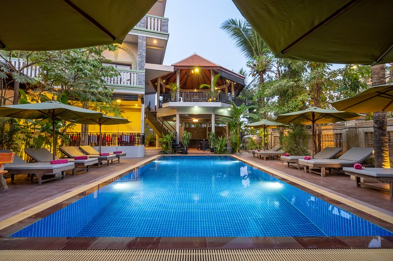 Siem Reap Home for Family &Friend (Breakfast include and free WIFI) free pick up – semesterbostad i Siem Reap