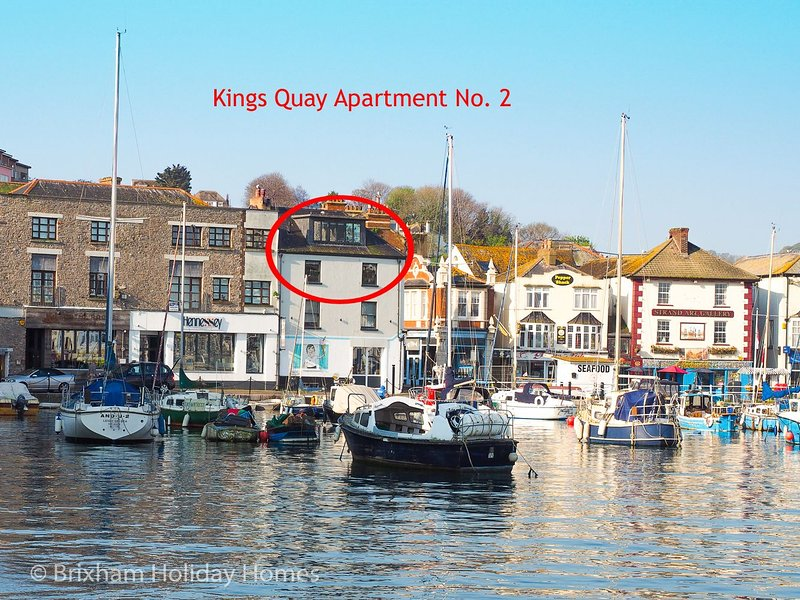 Kings Quay Apartments 2 - Spectacular harbour views from this luxury 3 bed, top, holiday rental in Brixham