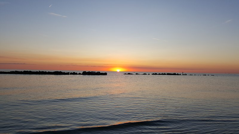 Fossacesia beach at sunrise