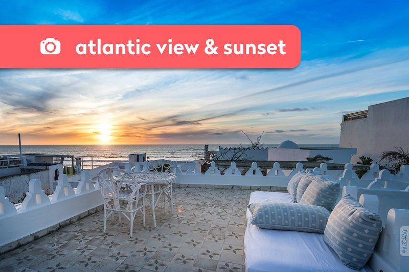 Asilah ★ Dar el Maq ★ Maison avec vue sur l'Atlantique, alquiler de vacaciones en Arcila