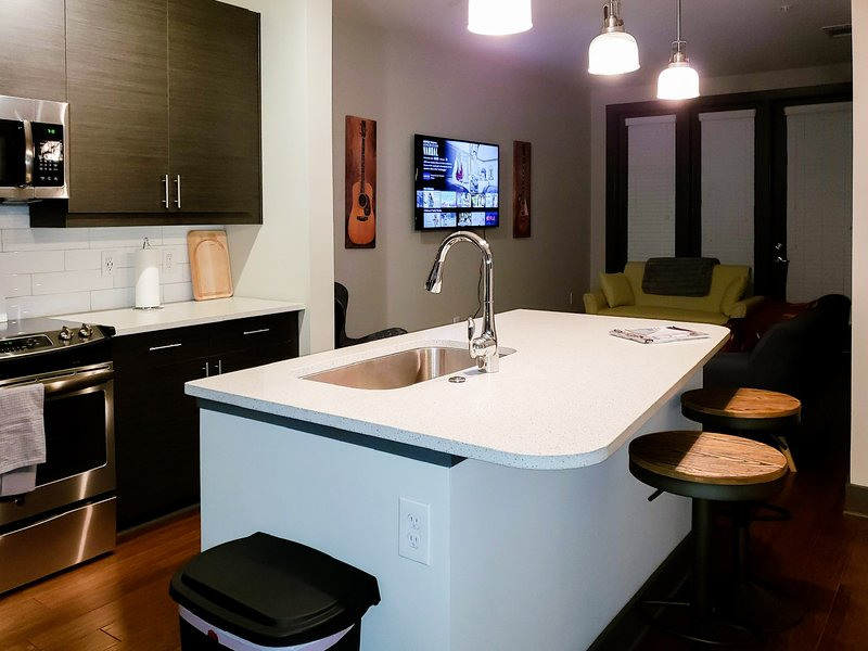 Nashvegas- Lux One Bed Apt, Downtown with Free Parking, holiday rental in Nashville