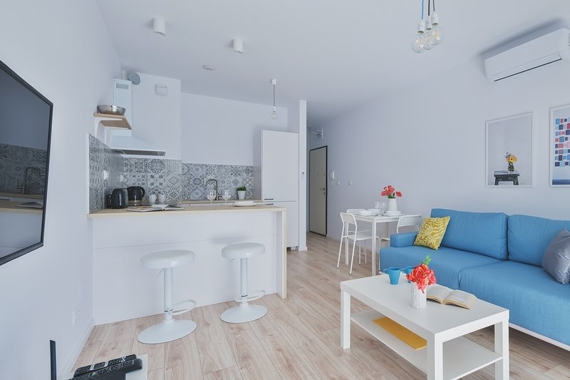 1 bed. apart. CYBERNETYKI 4 with A/C, casa vacanza a Piastow