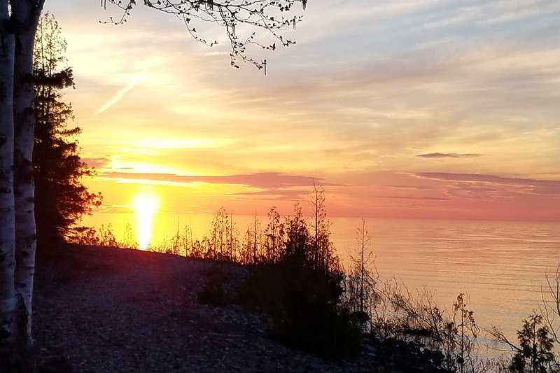 Sunsets over Lake Huron are like nothing you've ever seen before!