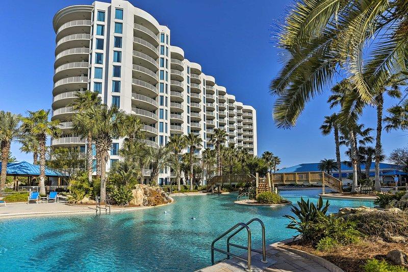 Unwind in beautiful Destin at this resort vacation rental condo.