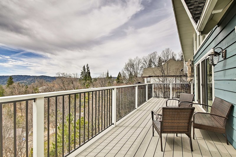 Located minutes from Lake Arrowhead, this home is the ideal year-round getaway.