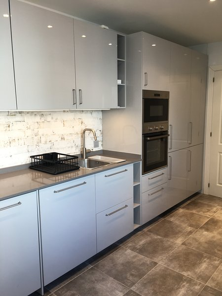 Brand new modern kitchen with fully integrated appliances