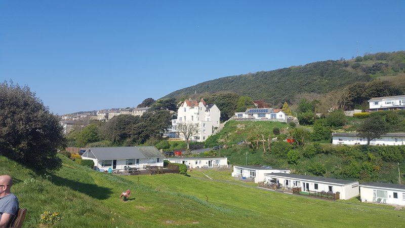 Picture of the bungalow on the right with the downs in the back ground