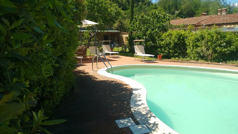 Villa Campo, villa with swimming pool in the green hills of Tuscany, Pisa, holiday rental in Rivalto