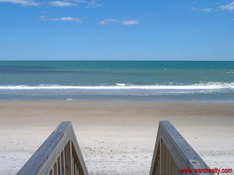 Vue de l'accès à la plage
