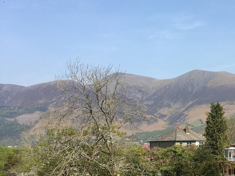 fell views of Skiddaw range from the garden
