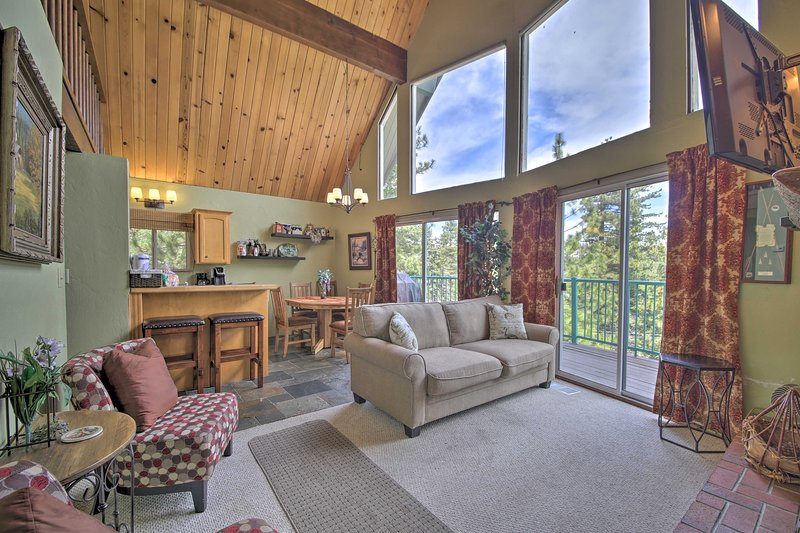 Picture windows will light up your day in this vacation rental.