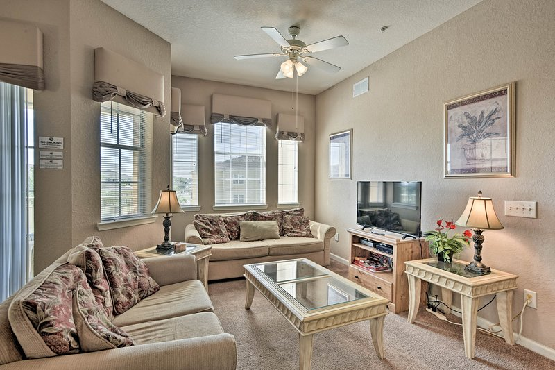 The condo offers almost 1,300 square feet of tastefully furnished interior.