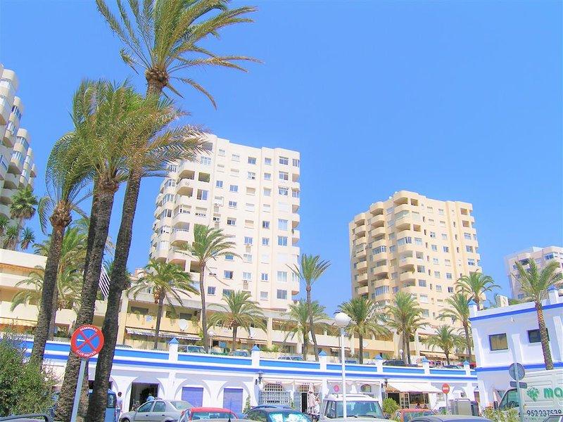 The urbanization buildings from Estepona port