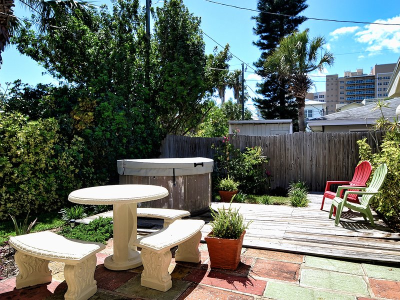 Charming backyard.