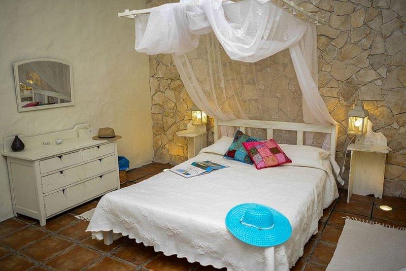 Underbart romantiskt sovrum.