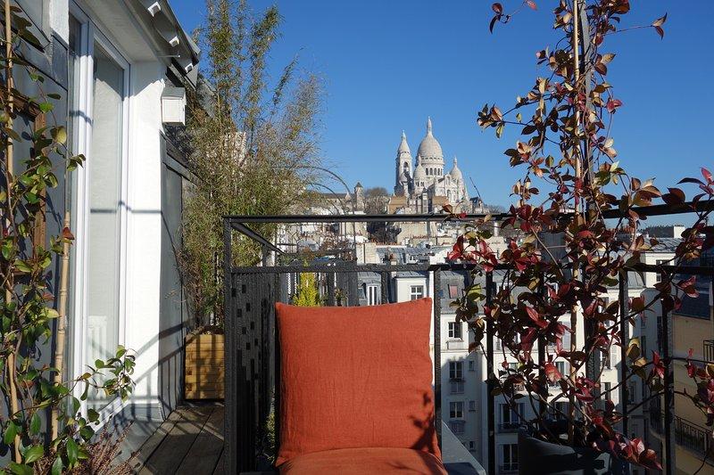 Montmartre - Terrazza vista eccezionale Sacré Coeur e Parigi