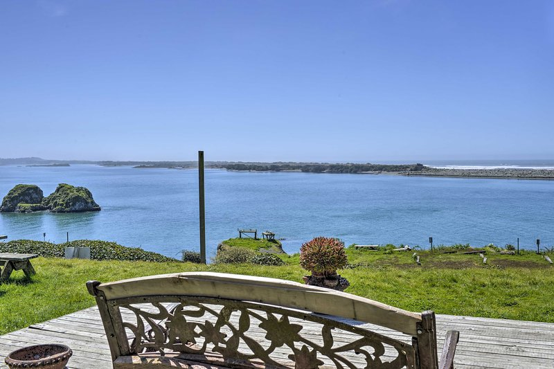 Located in Smith River, the property boasts breathtaking ocean views.