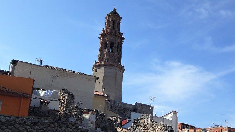 Blick auf den Mudejar Tower von der Terrasse