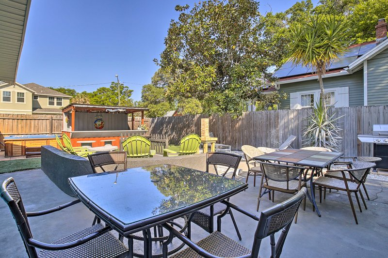 'Uptown Oasis' is a 7-bedroom, 7.5-bathroom vacation rental with ample space!