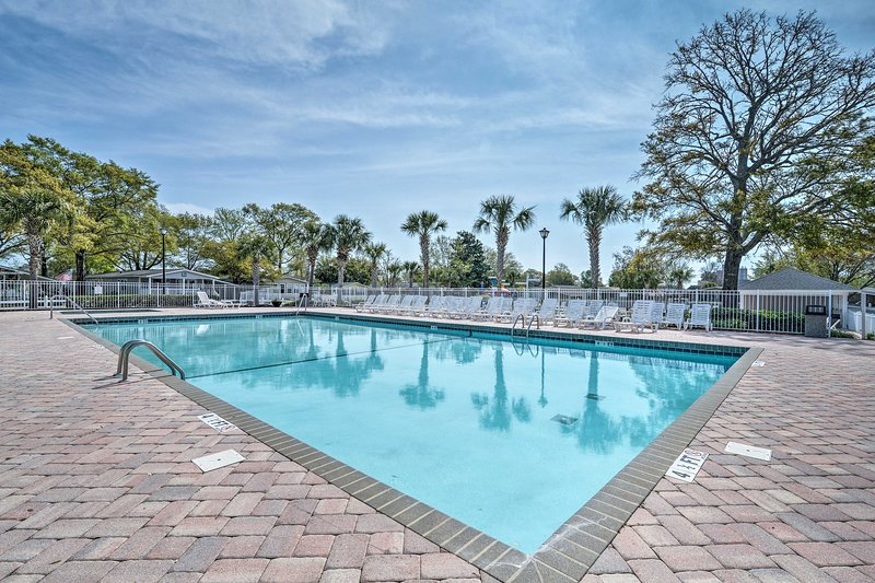 The vacation rental is located within a resort community with tons of amenities.