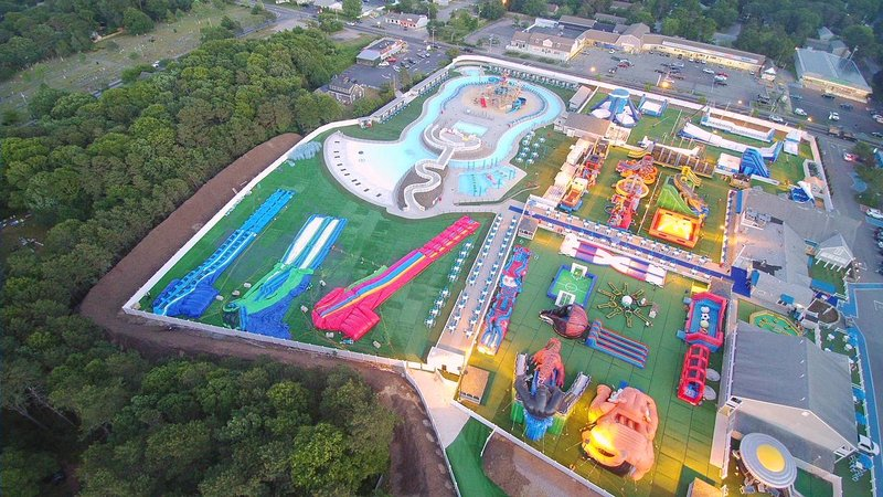 Cape Cod Inflatable Water Park- West Yarmouth Cape Cod New England Vacation Rentals