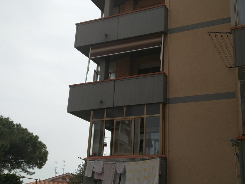 The apartment on the second floor seen from the outside