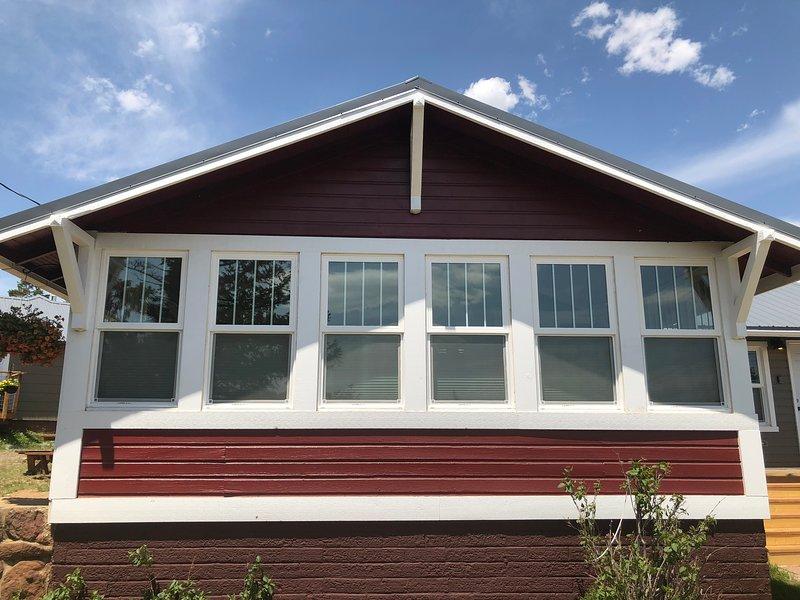 Portico per dormire completamente chiuso (e riscaldato) di Bighorn Cottage