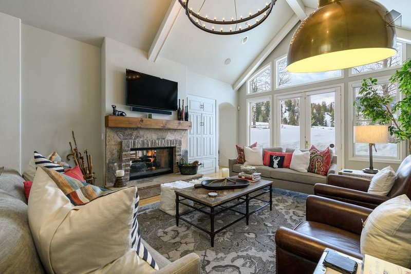 Cozy up and watch the snow fall from your living room.