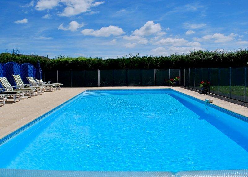 Schitterend zwembad van 11 x 5m met zonneterras op het zuiden