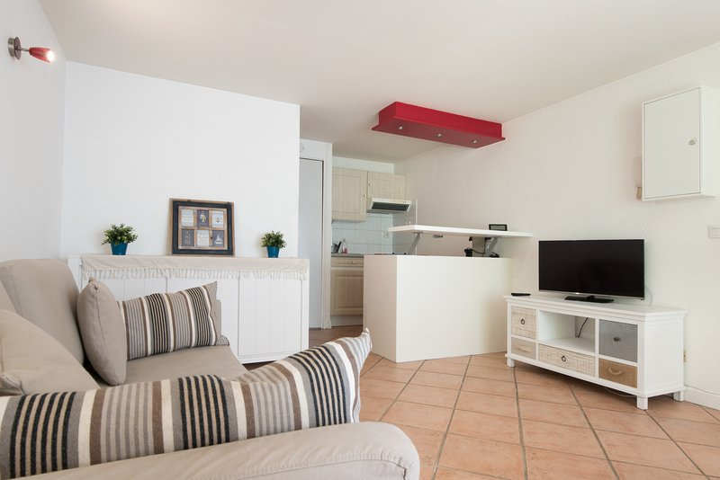 2 * furnished studio apartment with terrace in downtown La Rochelle