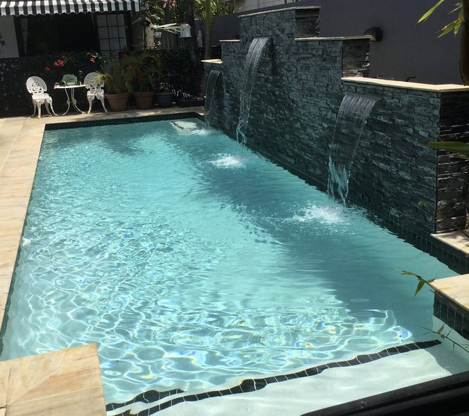 Sparkling pool to relax in after a busy day of having fun on the Gold Coast