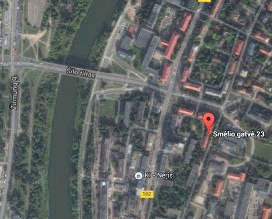 Área alrededor en el mapa