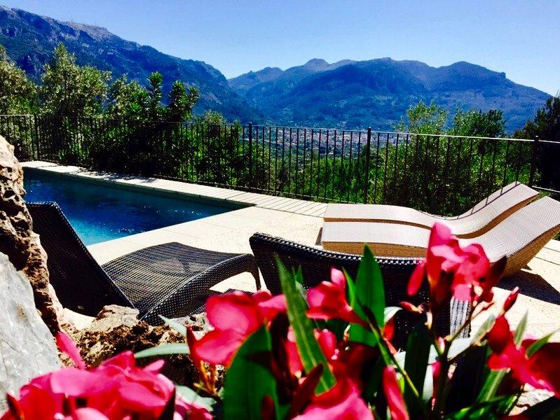 Casa tranquila para 4 personas con vistas y piscina en fornalutx, holiday rental in Sa Calobra