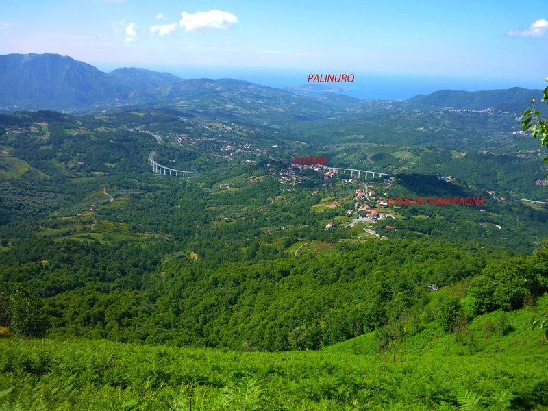 Vista desde el monte cornia