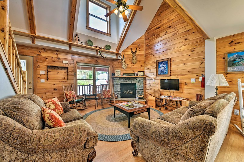 Claim this vacation rental cabin as your stay in Sparta, NC!