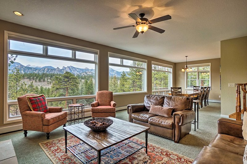 Estes Park Home w/ Mtn Views - 10 Mins to RMNP!, vacation rental in Estes Park