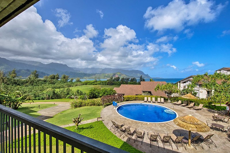 Relax on your lanai and take in the Bali Hai ocean views!