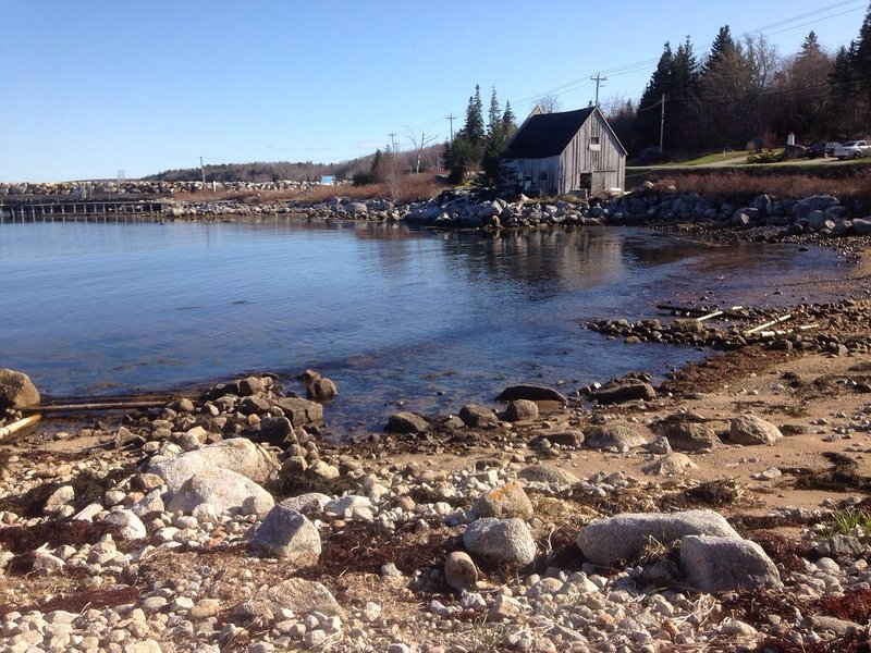 Our private beach overlooking a heritage fishing site.