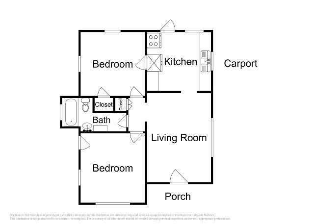 Cottage B Layout