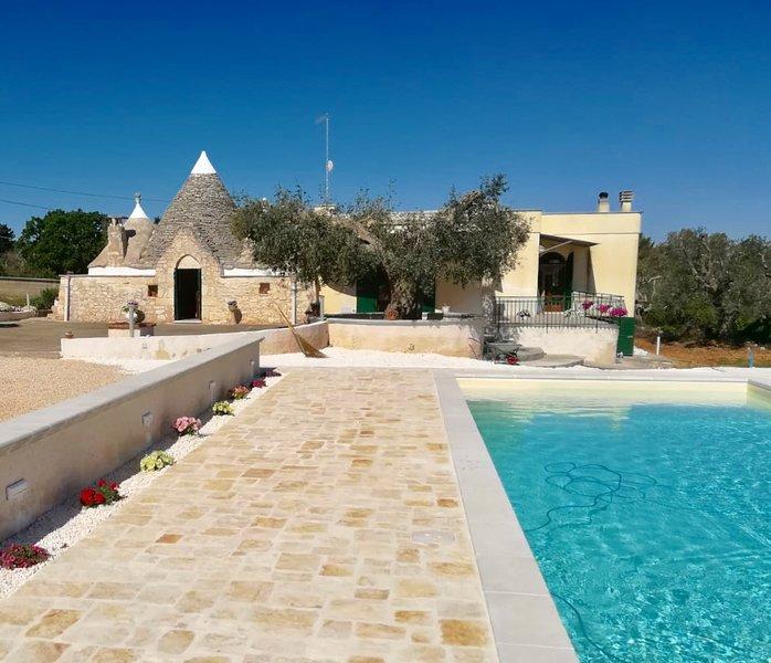 Villa con Trullo e Piscina Privata in Puglia a Ceglie Messapica, Salento (BR), alquiler de vacaciones en Ceglie Messapica