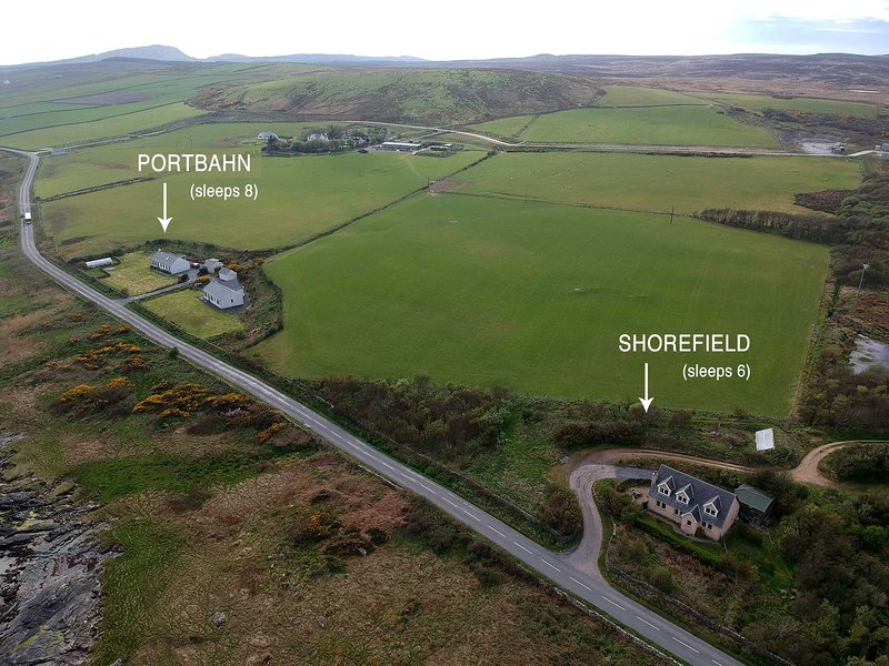 Portbahn and Shorefield are neighbouring cottages both available to rent