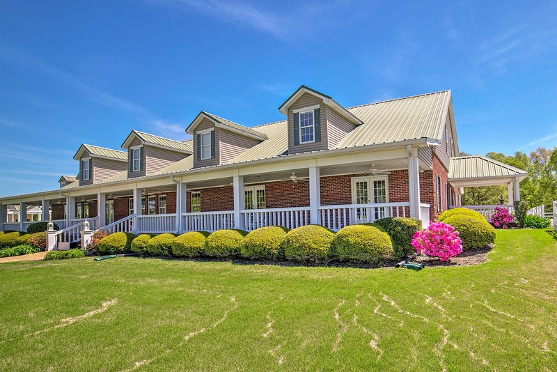 This 4-bedroom, 2.5-bath vacation rental is part of the Pickwick Pines Resort!